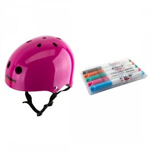 Triple Eight Wipeout Helmet Youth MD Neon Pink BMX/Skate