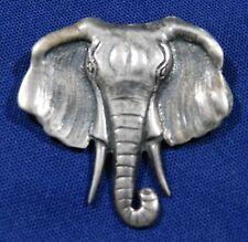 Vintage Elephant Pin Designer Cast Sterling Manufactured