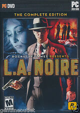 L.A. Noire The Complete Edition for PC Brand New Factory Sealed
