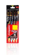 COLGATE ZigZag BLACK MEDIUM Toothbrush GENTLE CLEAN TEETH - 4 TOOTHBRUSH PACK
