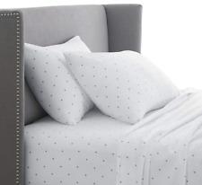 Pinzon 170 Gram Flannel Sheet Set - Queen Grey Dot