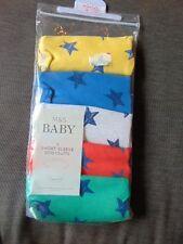M&S Set of 5 S/Sleeve 'Stars' Bodysuits Boy or Girl TINY BABY 48cm Multi BNWT