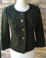 Ann Taylor Loft, Woman's Dark green jacket coat. Size 4, Gorgeous Blazer