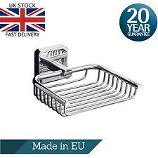 Stainless Steel Soap Dish Holder Basket Bathroom Wall Mount Adhesive Kapitan