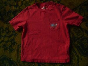 NWOT VINEYARD VINES BOY'S SIZE 5 RED WHITE AND BLUE ALL COTTON TWILL TEE SHIRT