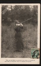 AD1012  SPORTS HUNTING WOMAN WITH DOUBLE BARREL SHOT GUN  4X RPPC