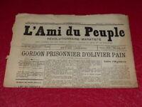 [PRESSE XIXe] MAXIME LISBONNE / L'AMI DU PEUPLE # 3 -2e S. DIM 8 FEV 1885 Rare !