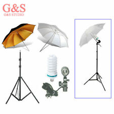 Photograph​y studio kit 2nd light stand+Light bulb+Umbrella x 2+Swivel Adapter