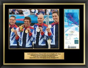London 2012 Olympics Collectors Edition Ticket & Premium Framed Canoeing Photos