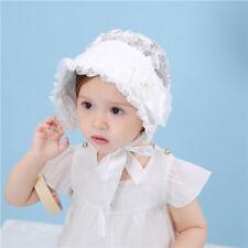 Khaki//Pink//Gray 3-8 Months Baby Princess Pretty Bonnet Girls Cotton Baby Hat LS