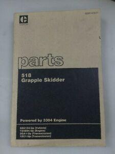 Caterpillar 518 Grapple Skidder parts manual. Genuine Cat book.