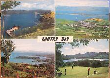 Irish Postcard BANTRY BAY Multiview West Cork Ireland Golf Views John Hinde 1978
