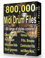 800,500 Drum Midi Pack Collection 2021 Ableton Cubase  Logic, FL Studio, Reason