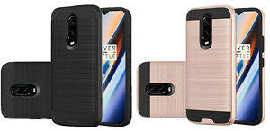 For OnePlus 6T A6013 A6010 (2018) Metallic Hybrid Case Phone Cover