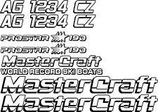 2 Color MasterCraft Prostar 190 Full set #4 w/Matching Boat Registration Numbers