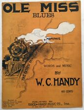 1920 Poster Quality BLACK RAILROADIANA sheet music W. C. HANDY Ole Miss Blues