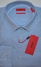 NWT HUGO Hugo Boss Red Label Sharp Fit Long Sleeve Checked Dress Shirt 16 34/35