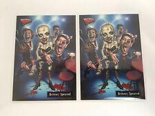 2007 Topps Hollywood Zombies B1 & B2 Bonus Card Britney Spears Garbage Pail Kids