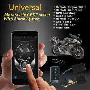 Motorcycle GPS Tracker + One Way Remote Engine Start Keyless Entry Alarm System