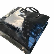 HARRODS Black Patent Tote Bag Top Handle Handbag Medium / sr3