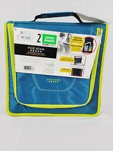 "1 Five Star 2"" Zipper School Binder Multi-Pocket Durable 530 Sheet Capacity"