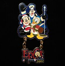 Disney Pin - Fab 4 Mickey Mouse Goofy Donald Epcot Holidays Around World 2002 Le