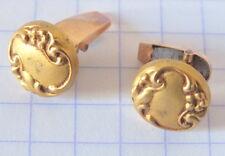 boutons de manchette col métal doré cufflinks  (6)