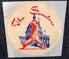 NEW UNUSED RARE Vintage 1969 Washington Senators Decal Sticker MLB