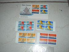 Vintage Stamps Fiji Canoes Australia First Day Issue Set 4 per sheet