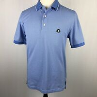St. Andrews Links Brooks Brothers Polo Golf Shirt Small Blue White Check S/S