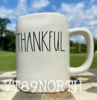 NEW Fall Rae Dunn Ceramic THANKFUL Mug