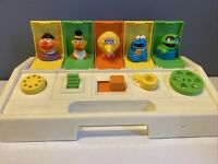 Vtg 1980 Playskool Poppin Pals Sesame Street Pop Up Figure Toy Ernie Bert Oscar
