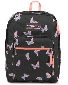 "Trans by JanSport 17"" Supermax Laptop Backpack--Butterfly Ballet/Black"