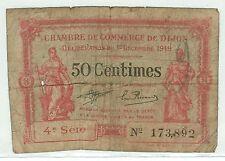 BILLET DE CHAMBRE DE COMMERCE DIJON 17