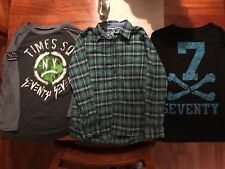 77 kids by American Eagle boys button front shirt size medium M 10 T Shirt Lot