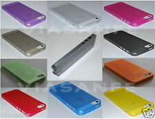 Cover Custodia Bumper Per iPhone 5S 5 Trasparente Ultra Slim 0,3mm Thin Satinata
