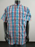 NWT Mens M Columbia PFG Super Bonehead Classic Short Sleeve Fishing Shirt Atoll