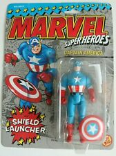 Marvel Super Heroes - Captain America with Shield Launcher - ToyBiz 1990