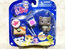 Littlest Pet Shop Collectible Hungriest Gray PERSIAN CAT lot #973 Retired NIB