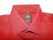 Olymp Luxor Herren Hemd Langarm Rot/Schwarz Gepunktet KW40