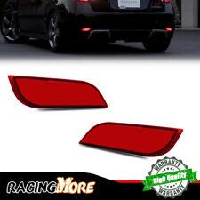 Red Lens Rear Foglight Tail Brake LED Lamps For 2008-2018 Subaru Impreza WRX STi