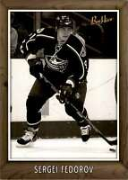2006-07 Upper Deck Beehive 5X7 Black And White Sergei Fedorov #74