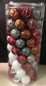 "New Martha Stewart 101 pc Ball Christmas Ornaments Winter Tiding 2-1/2"" (2.5"")"