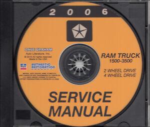 2006 Dodge Ram Truck Service Manual on CD 1500 2500 3500 Pickup Shop Gas Diesel