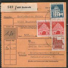 Ungeprüfte Briefmarken aus der BRD (1960-1969) mit Bauwerks-Motiv