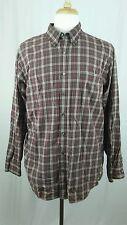 Cherokee Men's Button Down lightweight Plaid Long Sleeve Shirt Sz XL