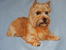 Embroidered Short-Sleeved T-Shirt - Norwich Terrier Bt3985 Sizes S - Xxl