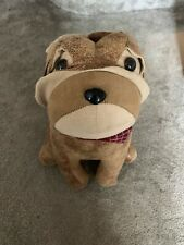 Faux Leather Bulldog Dog Fabric Door Stop Novelty Wedge Animal Heavy Stopper New