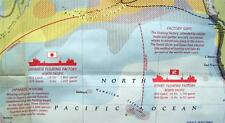 NATIONAL GEOGRAPHIC MAP THE GREAT WHALES OF THE WORLD DECEMBER 1976 VINTAGE