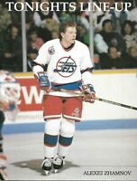 Winnipeg Jets - Tampa Bay Lignining 14.03.1993 NHL Off. Program  Alexei Zhamnov
